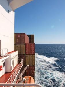 Frachtschiffreise auf hoher See