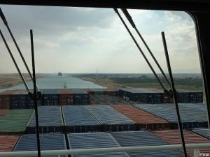 Der Suezkanal - Blick von der Brücke