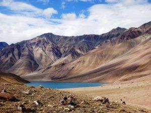 Der Chandratal See im Lahaul Tal