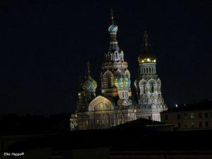 die Christi Auferstehungs Kirche bei Nacht