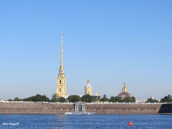Die Peter-Paul-Festung in St. Petersburg