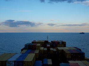 Reise mit dem Frachtschiff Australien