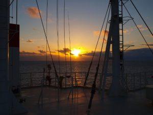 Sonnenuntergang in der Nähe von Australien