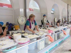 russischer Frischkäse in St. Petersburg