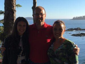 Meine Eltern und ich in Tofino