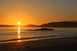 Sonnenuntergang bei Tofino