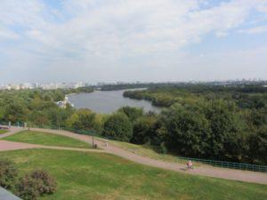 Blick auf die Moskva
