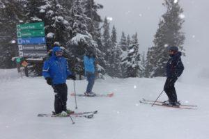 Skifahren in Whistler im Pulverschnee