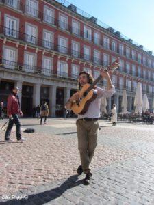 Musiker auf der Plaza Mayor