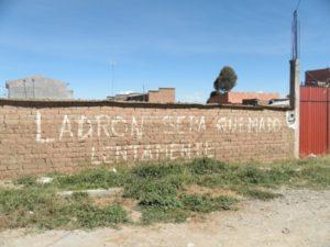 Wandbeschriftung in El Alto