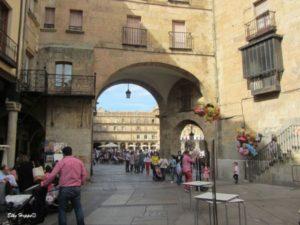 die Altstadt in Salamanca