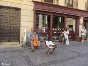 Strassenmusiker in Toledo