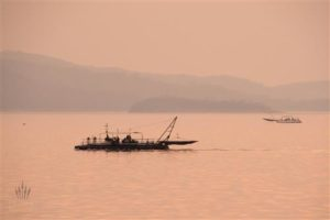 Kapenta-Fischerboot auf dem Karibasee