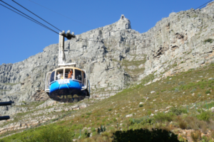 Seilbahn-Gondel auf den Tafelberg