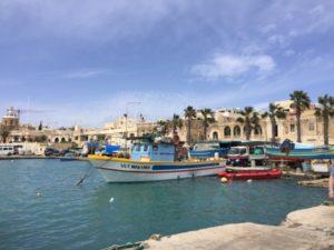 Hafen Marsaxlokk Englisch Sprachreise Malta